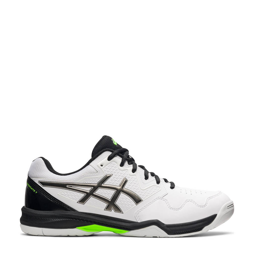 ASICS Gel-Dedicate 7 tennisschoenen wit/metallic grijs/zwart