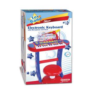 Elektronisch Keyboard met Microfoon en Kruk