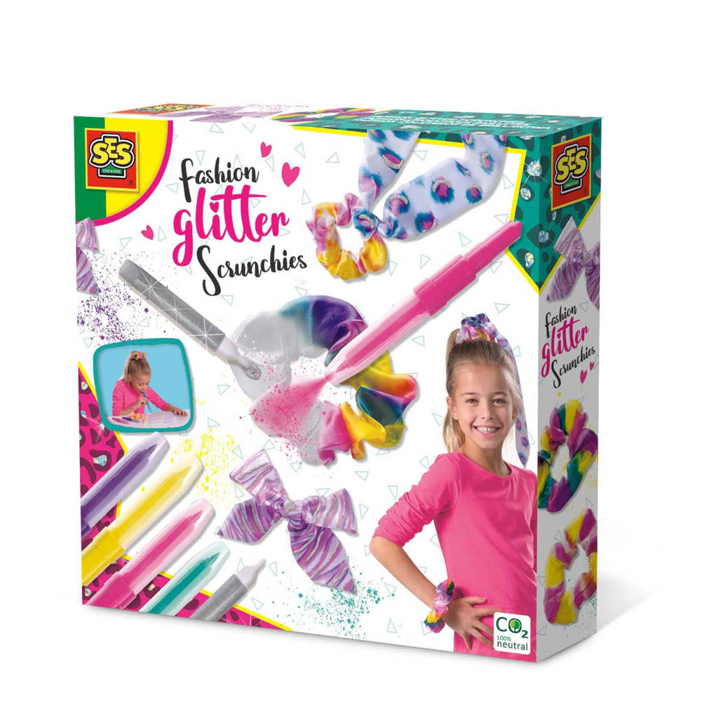 SES Fashion glitter scrunchies