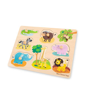 Peg Puzzle Safari  vormenpuzzel 8 stukjes