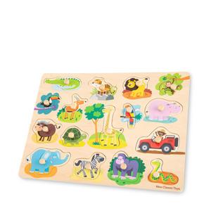 Peg Puzzle Safari  vormenpuzzel 16 stukjes