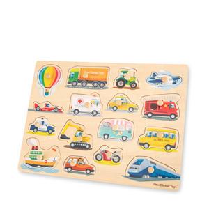 Peg Puzzle Transport  vormenpuzzel 16 stukjes