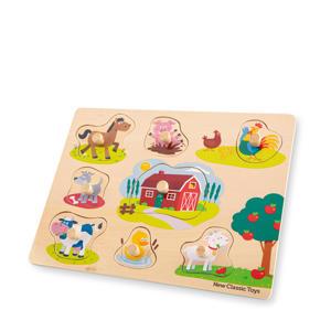 Peg Puzzle Farm  vormenpuzzel 8 stukjes