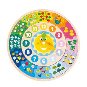 ronde puzzelklok