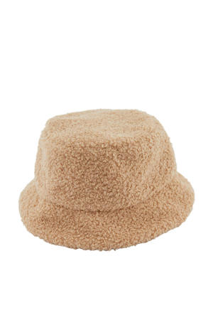 teddy bucket hat LPHANNAH lichtbruin