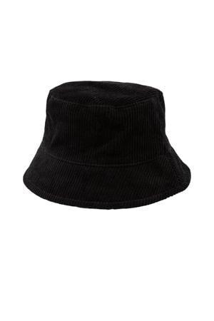 corduroy bucket hat Henny zwart