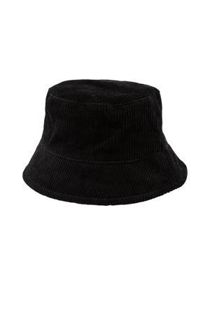 corduroy bucket hat LPHENNY zwart