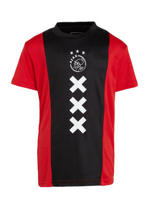 Ajax T-shirt met printopdruk rood/zwart