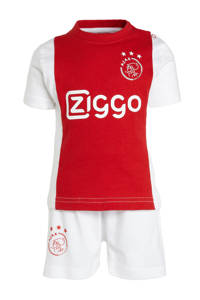Ajax Ajax baby T-shirt + short rood/wit, Wit/rood
