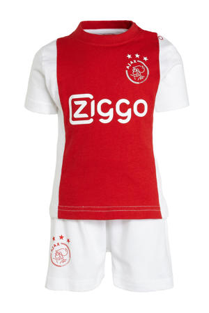Ajax baby T-shirt + short rood/wit