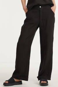 Transfer wide leg palazzo broek zwart, Zwart