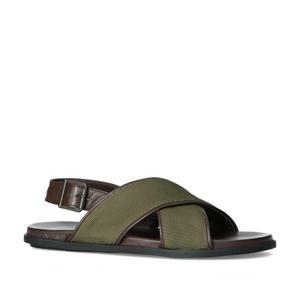 leren sandalen bruin/kaki