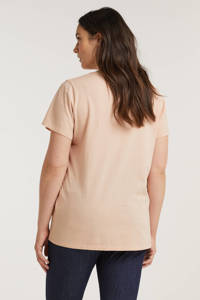 Levi's Plus T-shirt PERFECT TEE met logo zalmroze/rood/wit, Zalmroze/rood/wit