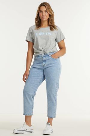 high waist straight fit jeans 501 light denim