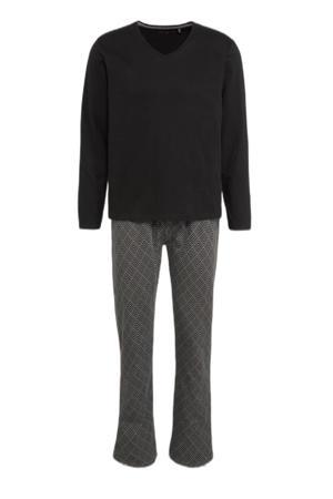 pyjama zwart/grijs