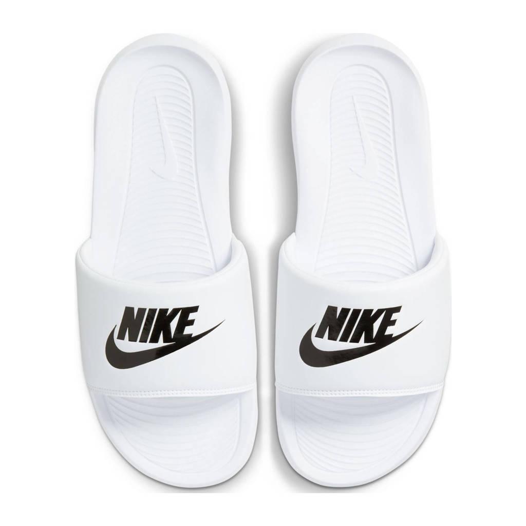 Nike Victori One Slide  slippers wit/zwart, Wit/zwart