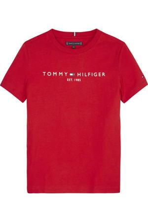 unisex T-shirt van biologisch katoen rood