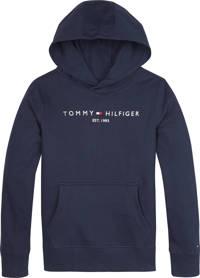 Tommy Hilfiger unisex sweater met logo donkerblauw, Donkerblauw