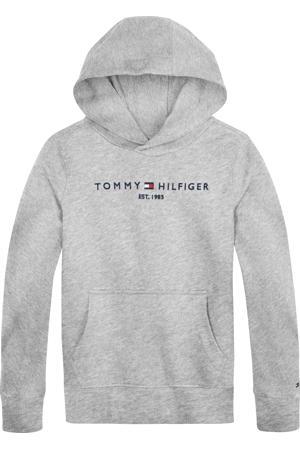 sweater met logo lichtgrijs