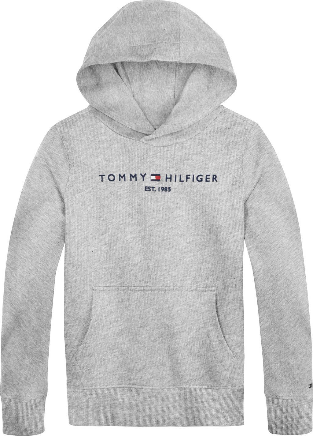 Tommy Hilfiger unisex sweater met logo lichtgrijs, Lichtgrijs