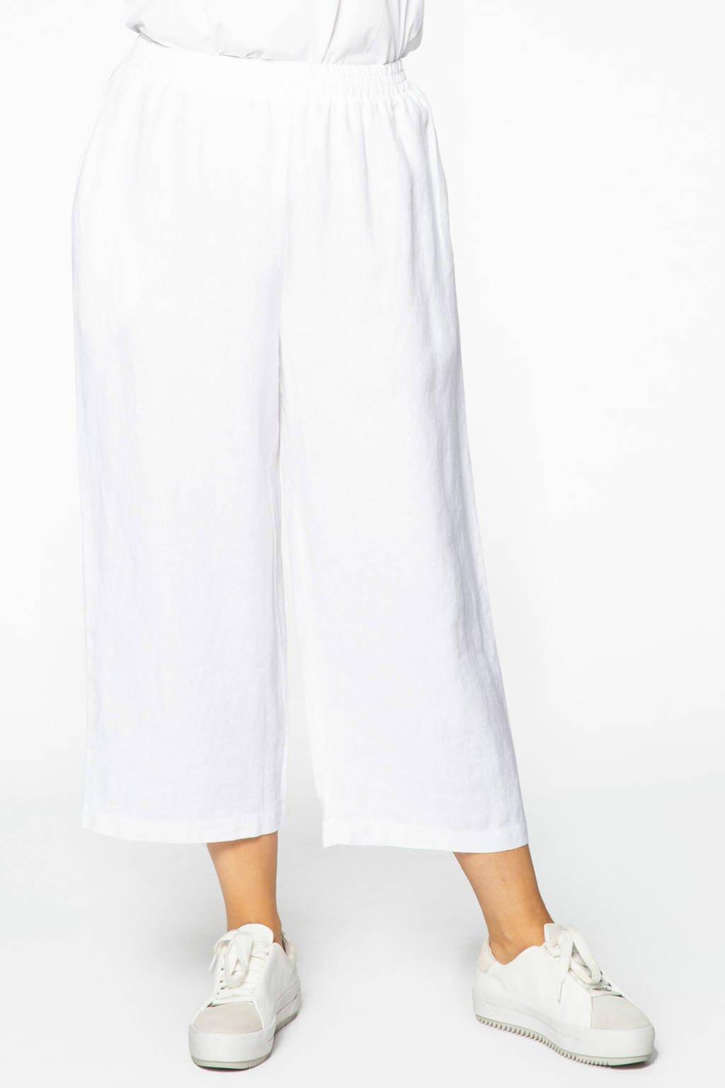 Yoek high waist culotte wit, Wit