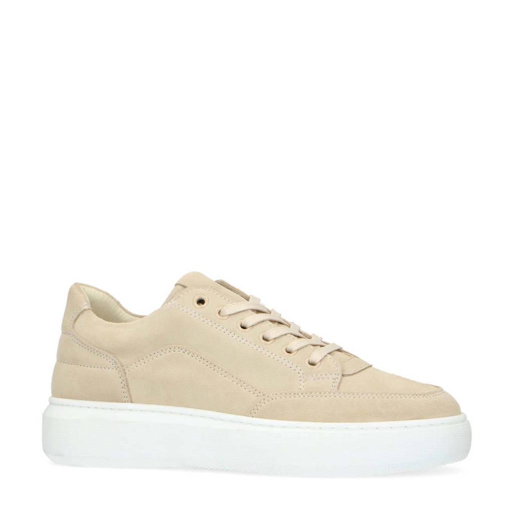 Manfield   suède sneakers beige, Beige