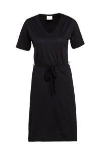 VILA A-lijn jurk met ceintuur zwart, Zwart