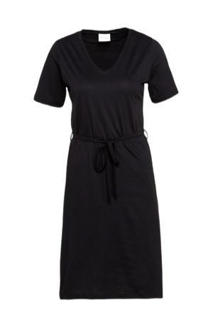 A-lijn jurk met ceintuur zwart