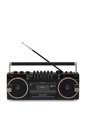 PR1980 draagbare radio/ghettoblaster (zwart)