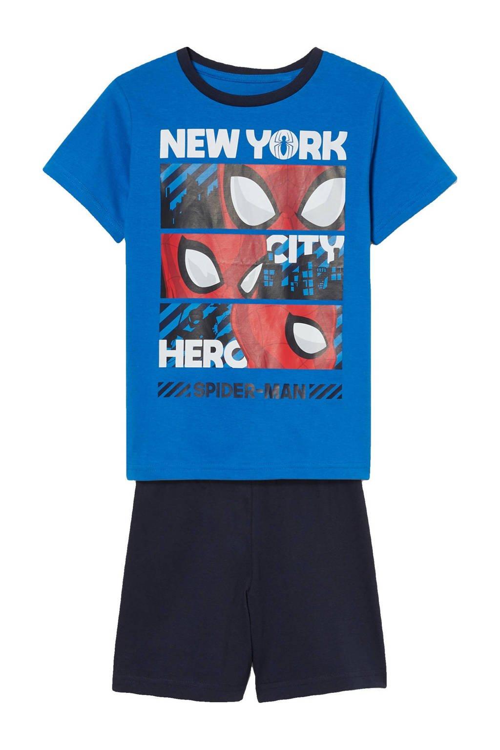 C&A Spiderman   spiderman shortama blauw/donkerblauw/wit, Blauw/donkerblauw/wit