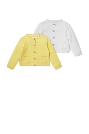 vest - set van 2 geel/wit