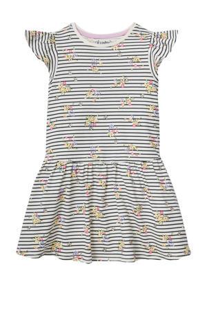gestreepte jurk van biologisch katoen ecru/multi