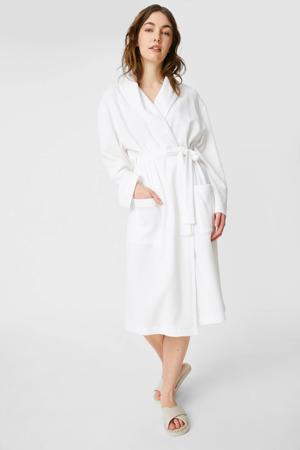 badjas met wafelstructuur wit