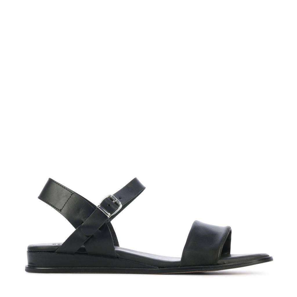 Red Rag 79370  leren sandalen zwart, Zwart