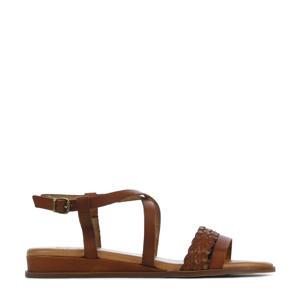 79392  leren sandalen cognac