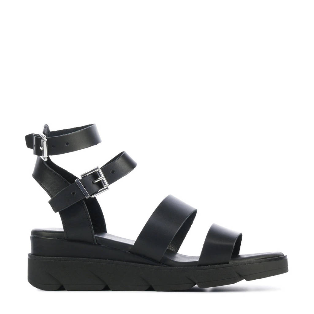 Red Rag 79384  leren sandalen zwart, Zwart