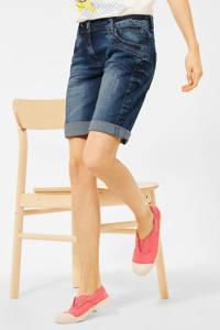CECIL loose fit bermuda jeans Scarlett blauw, Blauw