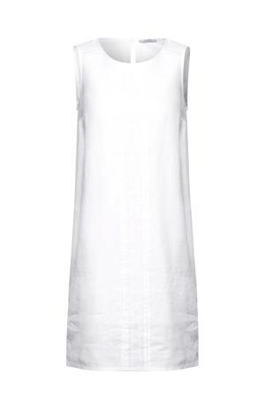 linnen jurk met open detail wit