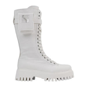 Groov-y High Canvas  veterboots off white