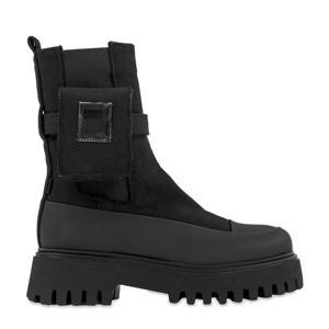 Groov-y Chelsea Canvas  hoge chelsea boots zwart