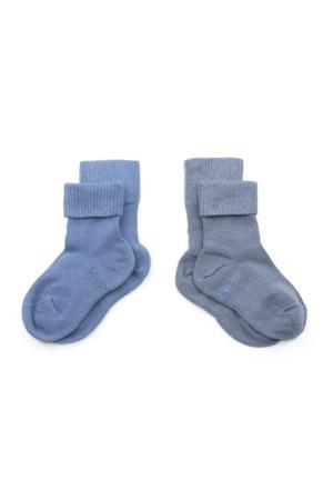 bio blijf-sokjes - set van 2 12-18 mnd denim blue