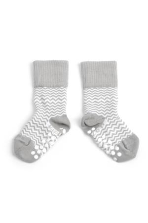 anti-slip blijf-sokjes 12-18 mnd ziggy grey