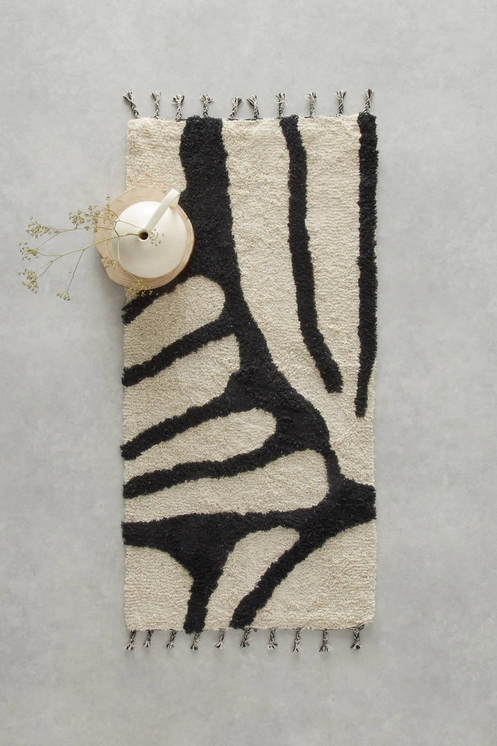 Wehkamp Home vloerkleed Lene  (120x60 cm), Ecru, zwart