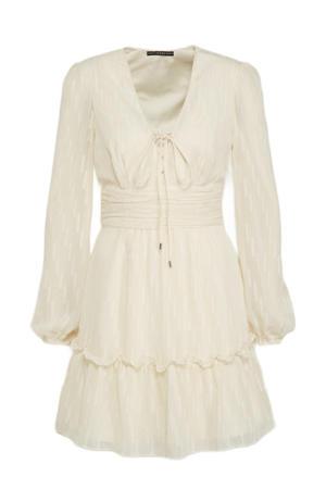 A-lijn jurk PETRA met ruches beige