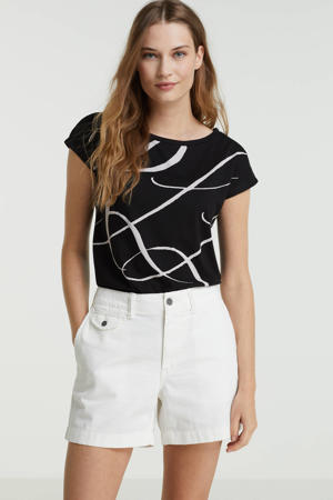 T-shirt GRIETA met printopdruk zwart