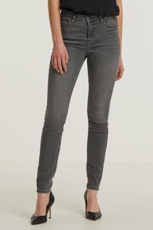 high waist skinny jeans grey