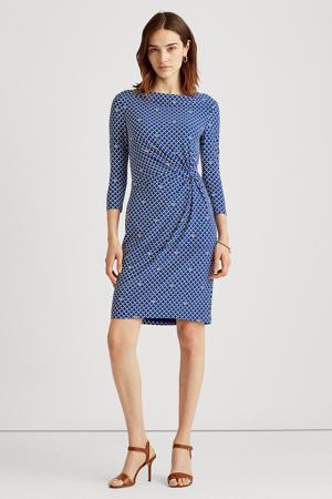 jurk TRAVA met all over print blauw