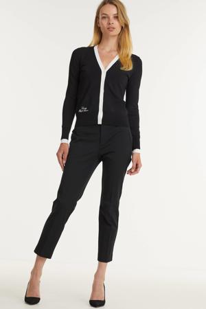 cropped slim fit pantalon LYCETTE zwart
