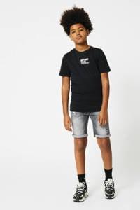 CoolCat Junior slim fit jeans bermuda Nick washed grey, Washed grey