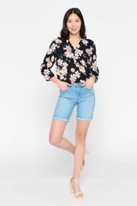 LOLALIZA skinny bermuda jeans lichtblauw, Lichtblauw
